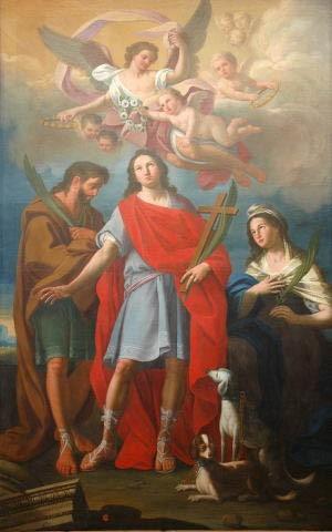 Lienzo de los Santos, obra de Matthias de Mari. Iglesia de San Vito, Ostuni, Italia.