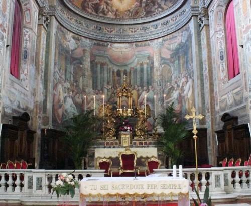 Altar mayor de la iglesia del Santo Spirito de Sassia, Roma, que presuntamente acoge las reliquias de la Santa desde 1674. Fotografía: Alvaro de Alvariis.