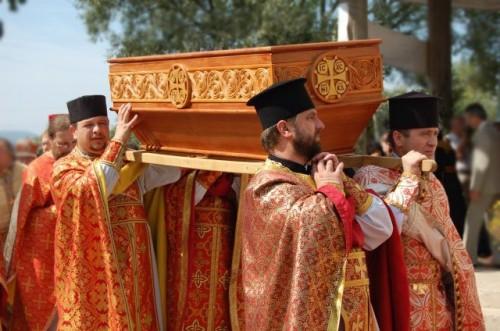 Traslado de las reliquias desde Zdynia a Gorlitz.