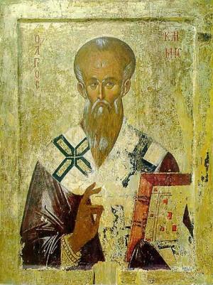 Icono ortodoxo griego de San Clemente.