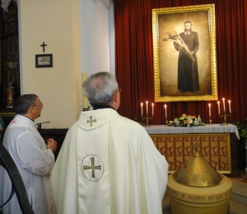 Cuadro del Beato Ricardo en Manzanera.