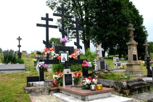 """Monumento llamado """"Gólgota de Lemko"""", construido por el nieto del santo sobre su tumba."""