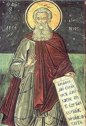 Fresco ortodoxo ruso del Santo.