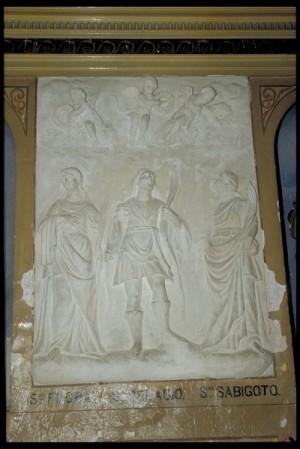 Relieve de los Santos Flora, Pelayo y Sabigoto en Córdoba.