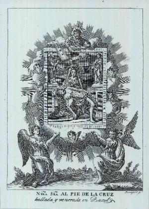 Otro grabado de la venerada patrona de Puçol, Valencia (España).