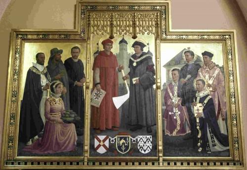 Tríptico de los mártires ingleses del Ushaw College de Durham.