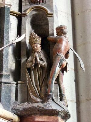 Martirio del santo. Catedral de Amiens (Francia).