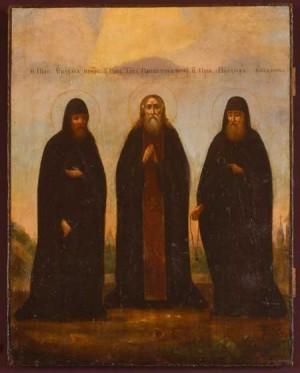 Icono de los Santos Erasmo, Tito y Prócoro.
