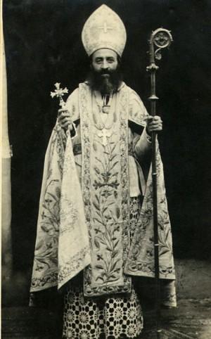 Fotografía del Beato revestido con sus ornamentos episcopales.