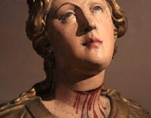Detalle del busto de Santa Digna (s.XVII). Colección Compañía de Jesús, Provincia Colombia.