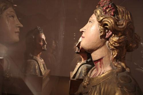 Bustos policromados de los Santos Digna y Anastasio de Córdoba (s.XVII). Colección Compañía de Jesús, Provincia Colombia.