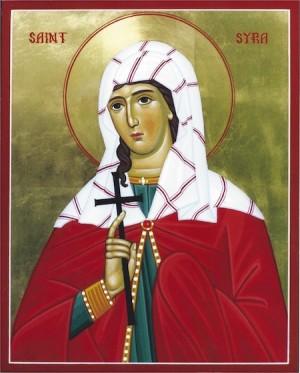 Icono ortodoxo de Santa Sira (Cristina), mártir persa.