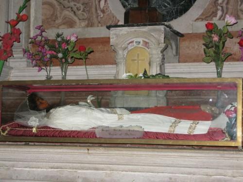 Urna de la Santa. Iglesia de San Francesco della Vigna, Venecia (Italia).