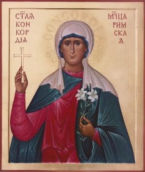 Icono ortodoxo ruso de la Santa. Iglesia de San Vladimir, Volgogrado (Rusia).