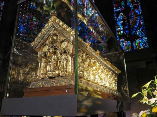 Urna de Carlomagno. Catedral de Aachen (Alemania) .