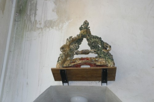 Reliquias del santo en Chavignon, Aisne (Francia).