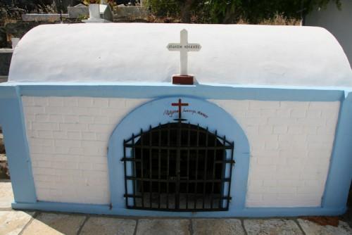 Primera sepultura del santo junto a la iglesia de Santa Bárbara, Ítaca (Grecia).