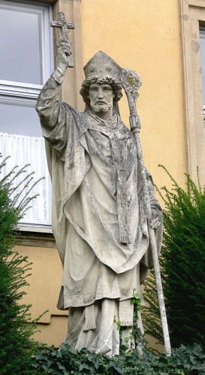 Escultura en la plaza de su nombre en Bamberg (Alemania).