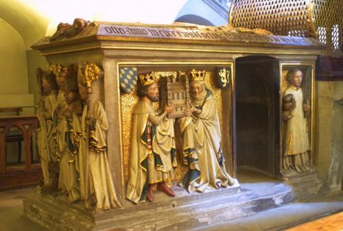 Sepulcro del santo en la abadía de San Miguel en Bamberg (Alemania).