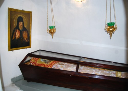 Urna de San Policarpo el archimandrita.
