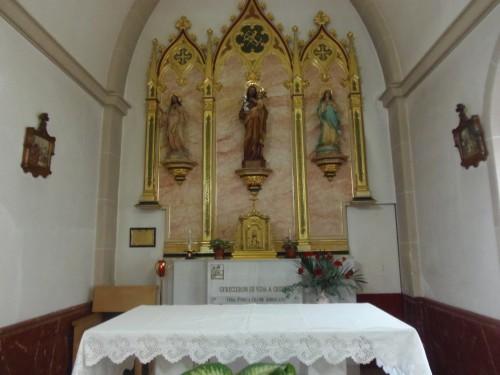 Capilla con el sepulcro de las Beatas Fidela y Josefa. Gandia, España.