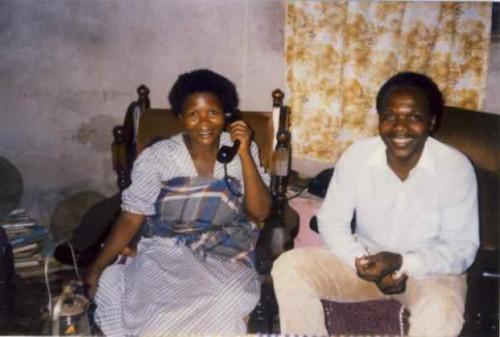 Fotografía del Beato junto a su esposa.