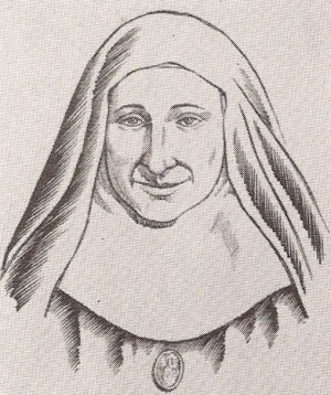 Ilustración de la Beata Facunda Margenat a partir de una fotografía suya.