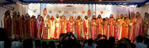Obispos y metropolitas sirios y malankares ortodoxos.