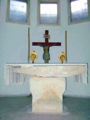 Altar en el lugar del martirio.
