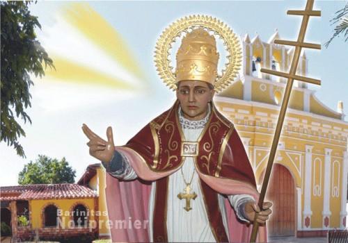 San Eleuterio, papa, patrono de Barinitas (Venezuela).