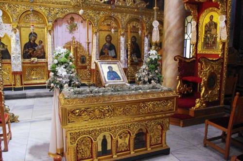 Urna de las reliquias de Santa Teodora.