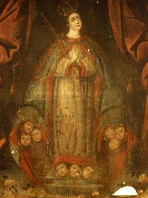 Cuadro de Santa María la Redonda conservado en el Museo de América en Madrid, España.