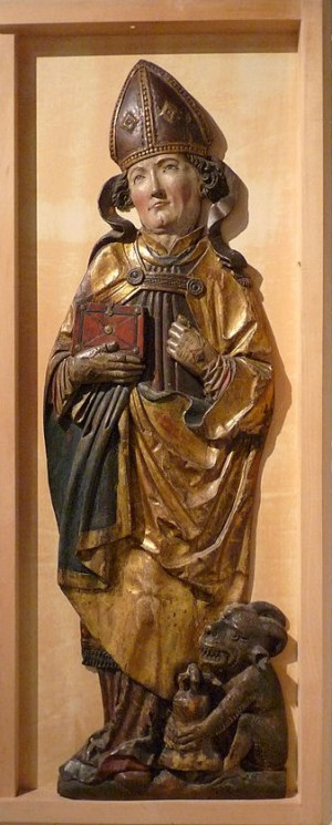 Relieve gótico del Santo en el museo de Estrasburgo, Francia.