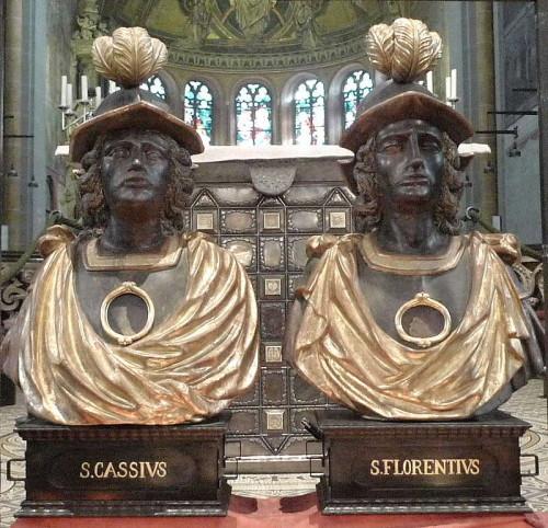 Bustos-relicario de los Santos Casio y Florencio. Catedral de Bonn, Alemania.