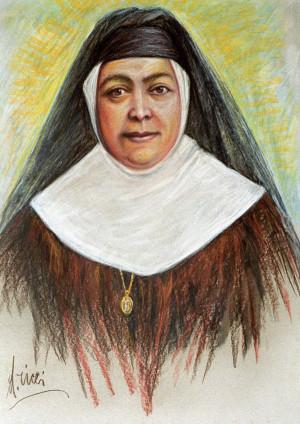 Retrato de la Santa que sirvió para el tapiz de la canonización.