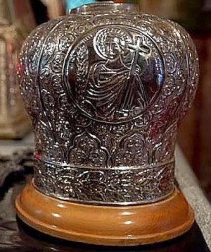 Relicario del cráneo. Catedral de Trípoli (Grecia).