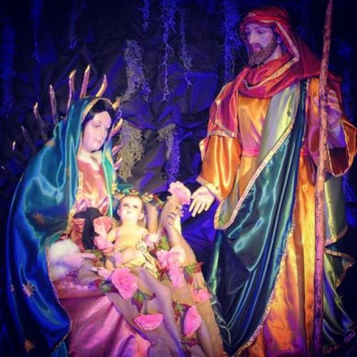 Nacimiento Guadalupano, en la Antigua Basílica de Nuestra Señora de Guadalupe, año 2014, cortesía de Luis Alberto Rosher.