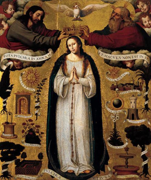 Inmaculada Concepción. Tabla del pintor valenciano Vicent Macip (1568).