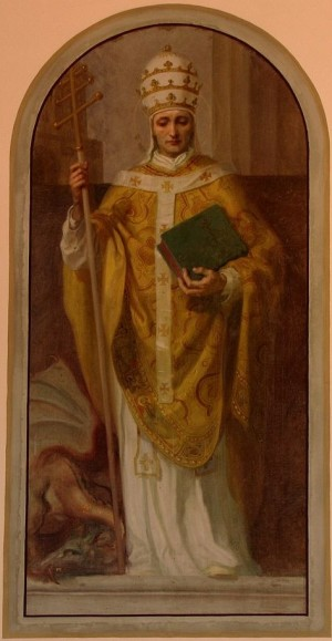 Pintura decimonónica del Santo.