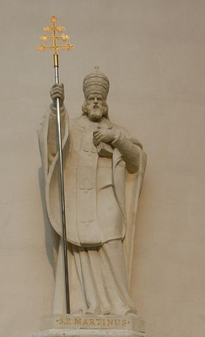 Estatua del Santo en la catedral de Odessa, Ucrania.