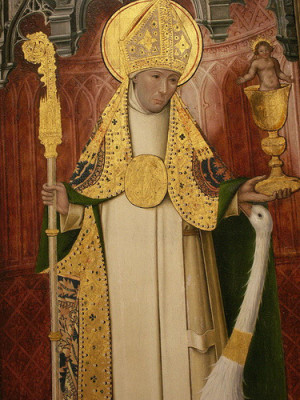 Detalle del Santo en una tabla gótica. Cartuja de Thuison-les-Abbeville, Francia.