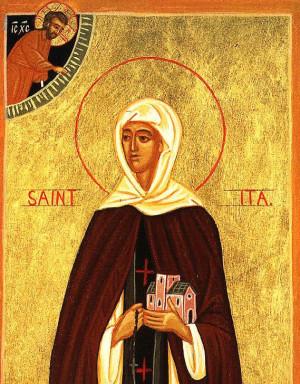 Icono ortodoxo de la Santa.