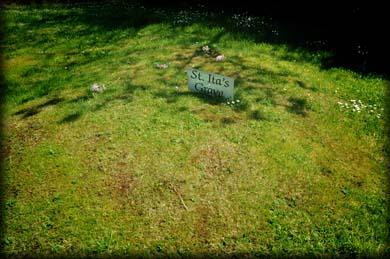 Lugar de la presunta tumba de la santa.