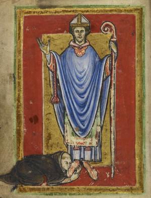 Miniatura en el célebre códice del siglo XII custodiado en el British Museum de Londres.