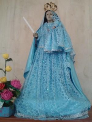 Virgen de la Candelaria del templo de la Asunción de María, Ayapa, Jalpa de Méndez, Tabasco.