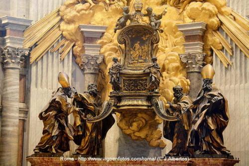 La Cátedra de San Pedro. Conjunto escultórico de Gian Lorenzo Bernini. Basílica de San Pedro del Vaticano, Roma (Italia). Fotografía: J. Albertos.