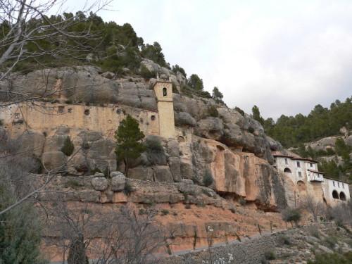 Vista exterior del Santuario de la Balma, Castellón (Valencia).
