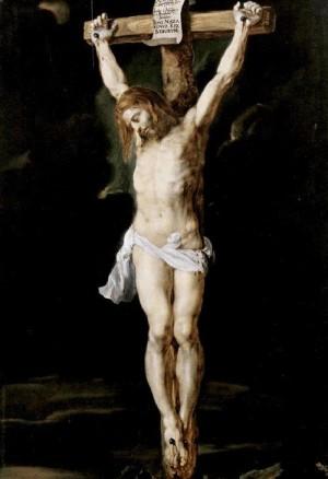 Cristo Crucificado. Óleo de Pedro Pablo Rubens.