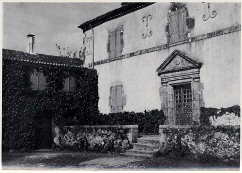 Foto antigua del presbiterio de Lucs-sur-Boulogne.