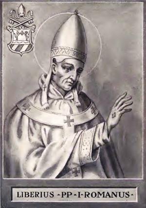 Estampa del papa San Liberio.